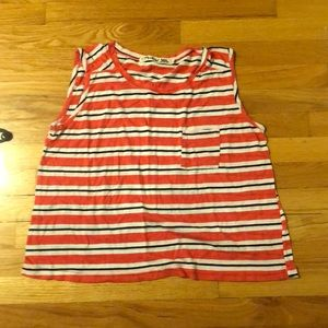 EUC MICHAEL STARS ONE SIZE FITS ALL STRIPED TEE